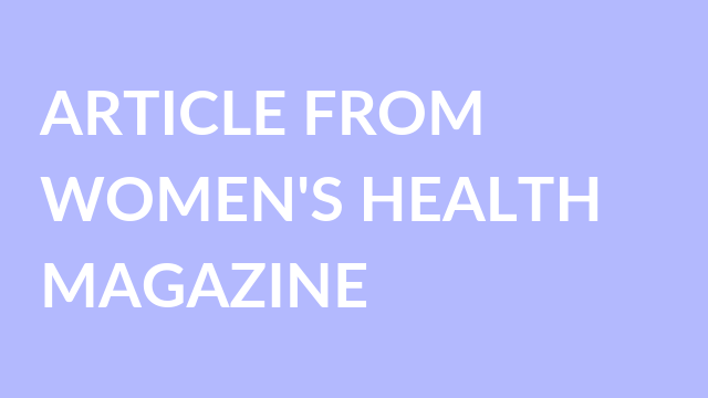 article from womens health