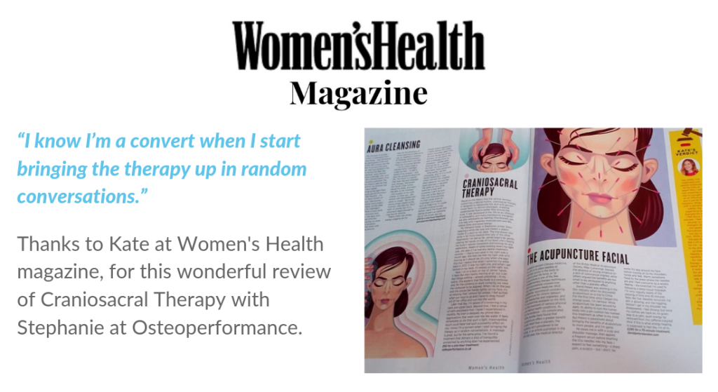 women's health article on cranial osteopathy